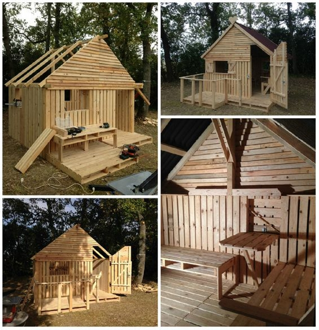 Cabin Made From Wooden Pallets
