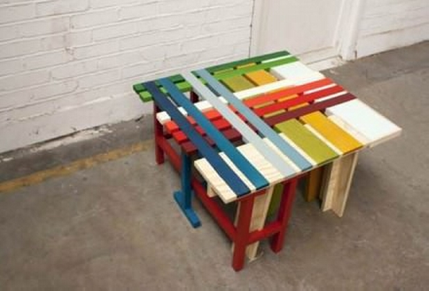 Colorful Pallet Table