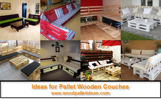 Ideas for Pallet Wooden Couches