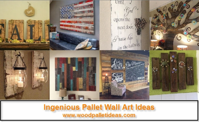 Ingenious Pallet Wall Art Ideas