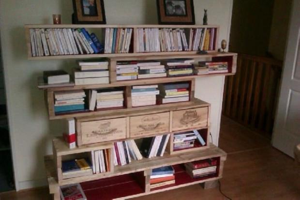 Pallet Bookshelves Ideas