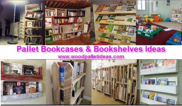 Pallet Bookcases & Bookshelves Ideas