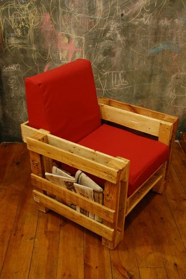 Pallet Chair with Side Storage