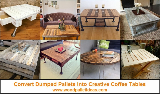 Convert Dumped Pallets into Creative Coffee Tables