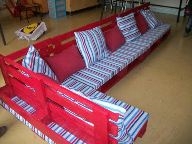 Pallet Couch with back storage