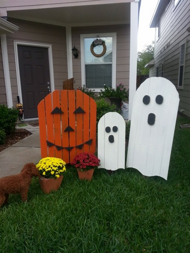 Creative decor ideas with wooden pallets wood pallet ideas for Decoration exterieur halloween