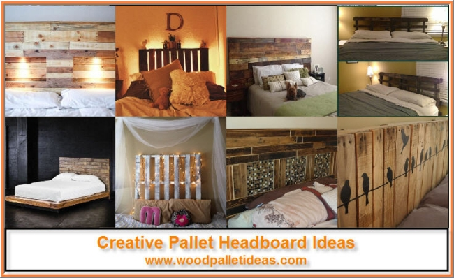 Creative Pallet Headboard Ideas