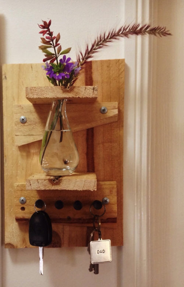 Pallet Key Holder cum shelves