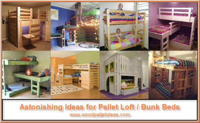 Astonishing Ideas For Pallet Loft Bunk Beds Wood Pallet Ideas