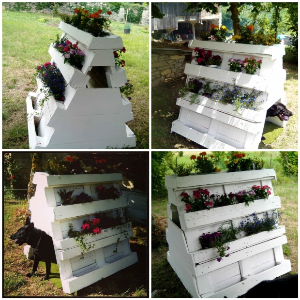 Pallet Planter Cum Dog House