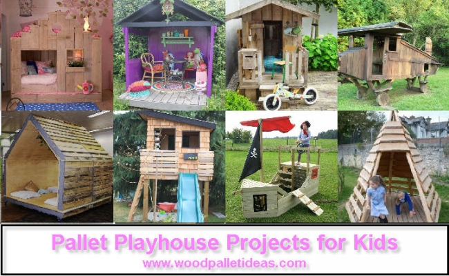 Pallet Playhouse Projects for Kids
