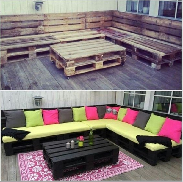 Pallet Upcycled Garden Corner Couch