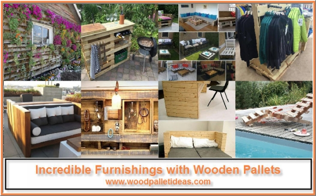 Incredible Furnishings with Wooden Pallets