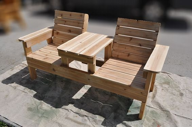 Pallet Wooden Double Chair