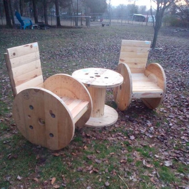 Recycled Palle Cable Reel Chairs