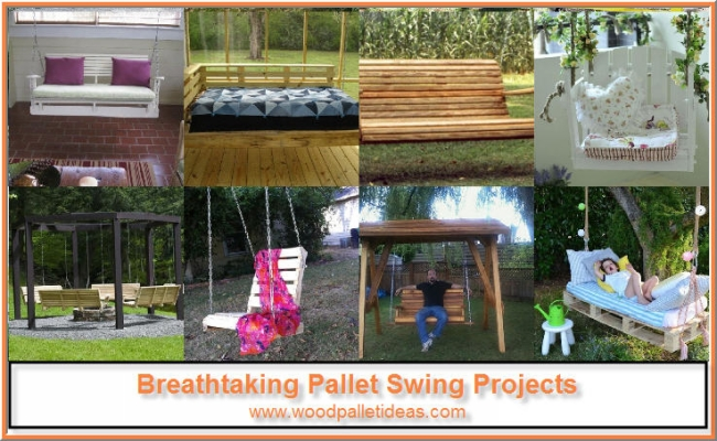 Recycled Pallet Swings