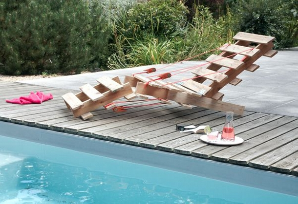 Recycled Pallets Pool Chair