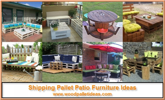 Shipping Pallet Patio Furniture Ideas