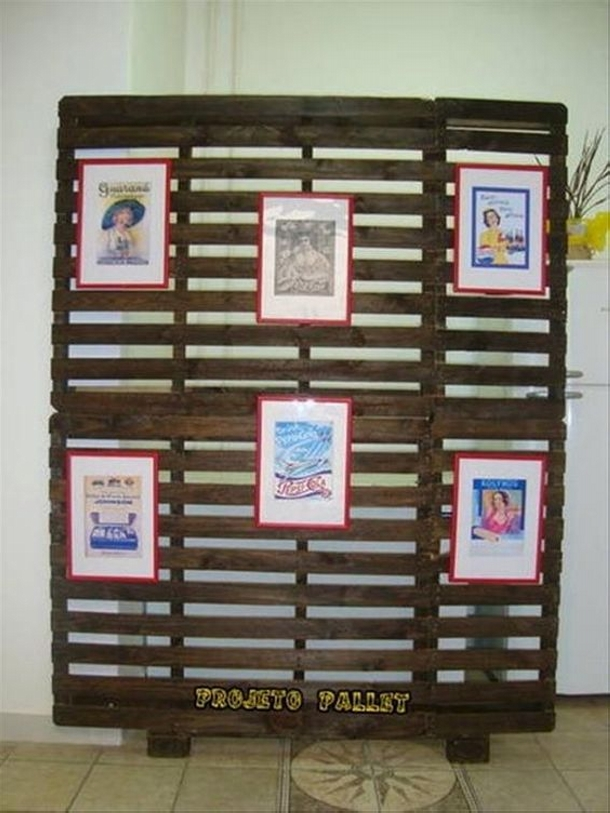 Upcycled Pallet Room Divider