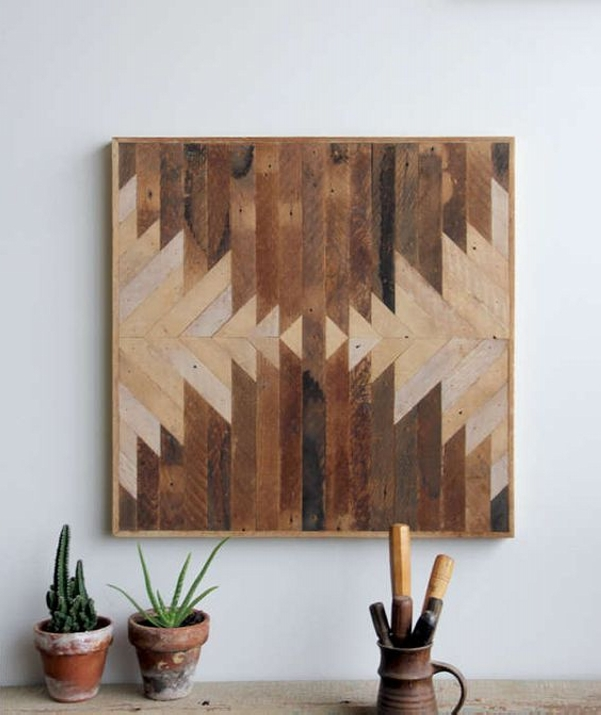 Ingenious pallet wall art ideas wood pallet ideas - Wood panel artwork ...