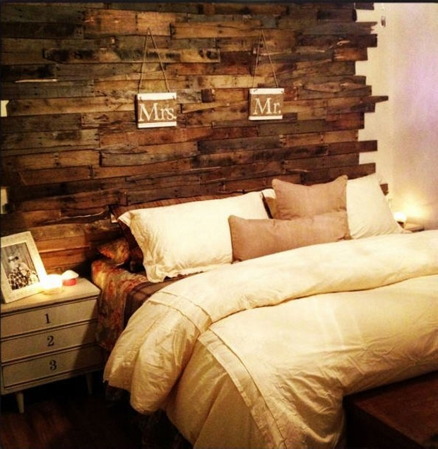 Creative pallet headboard ideas wood pallet ideas for How to make a wood pallet headboard
