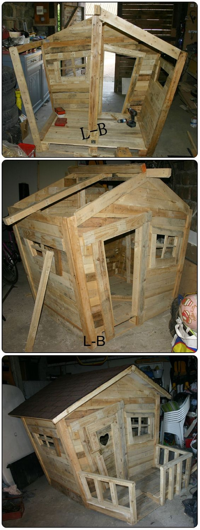 Wood Pallet Kids Hut
