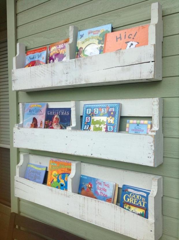 Wood Pallet Shelves