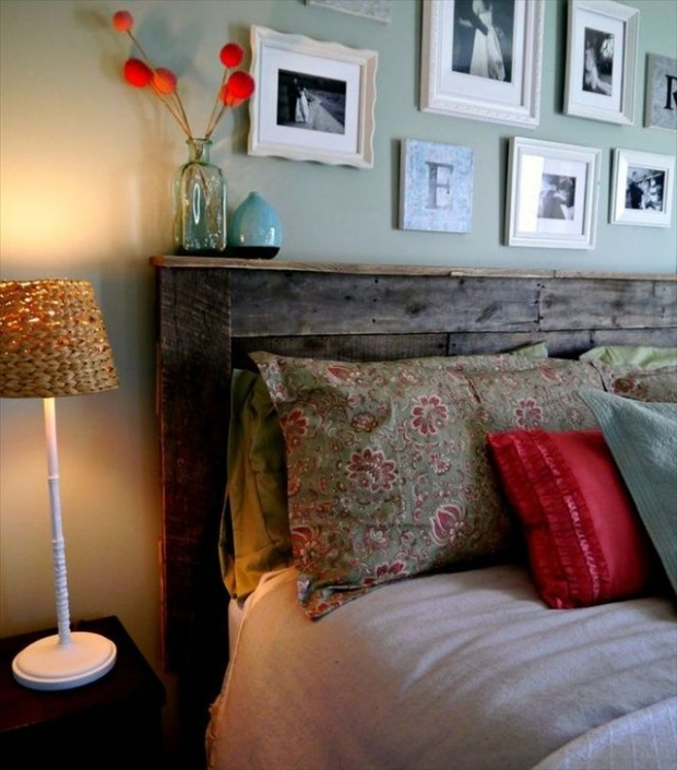 Wood Recycled Pallet Headboard