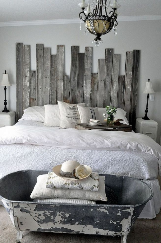 Wood Upcycled Pallet Headboard