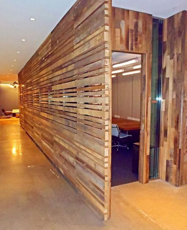 Wooden Pallet Room Divider