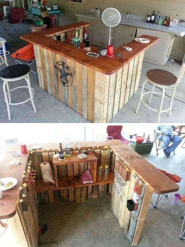 amazing pallet bar