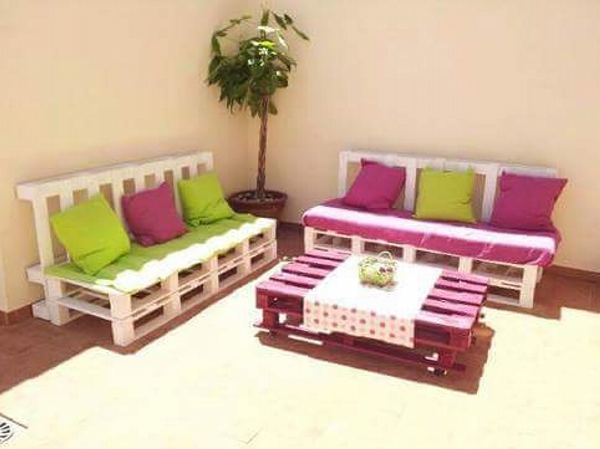colorfull pallet oudoor furniture