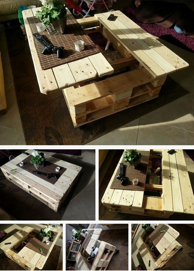 creative multi use pallet coffee table