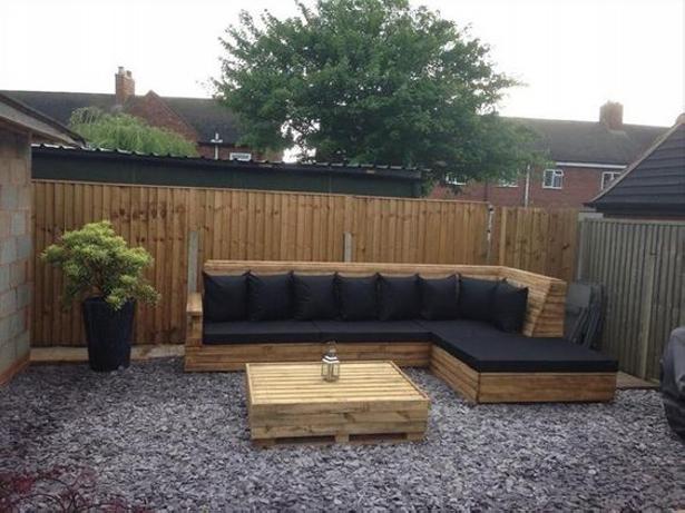 pallet L-shaped sofa