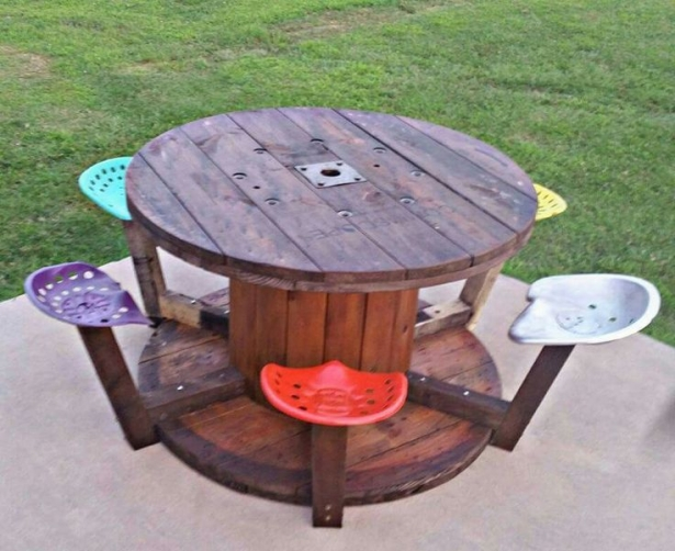 pallet cable reel furniture