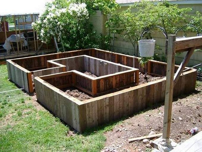 High Quality Pallet Cool Raised Beds Garden Ideas