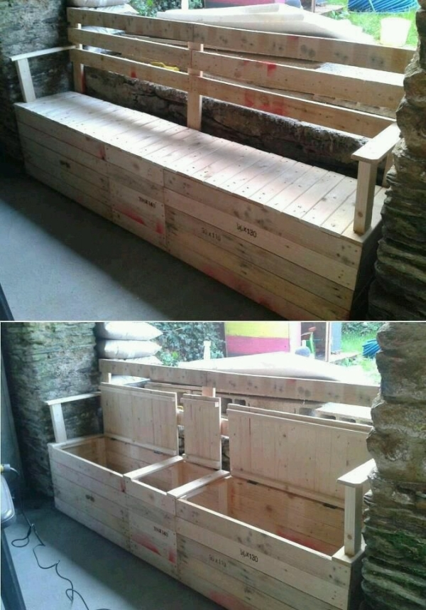 pallet couch cum chest