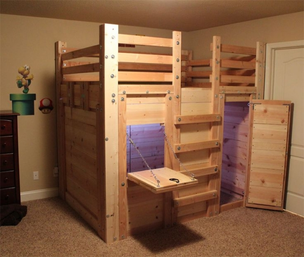 Astonishing ideas for pallet loft bunk beds wood for Diy rustic bunk beds