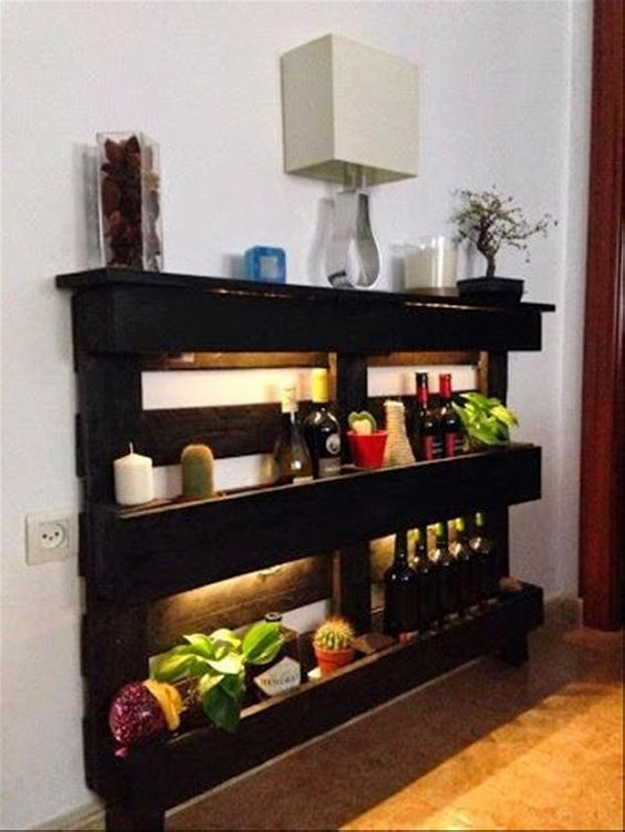 pallet shelves bar
