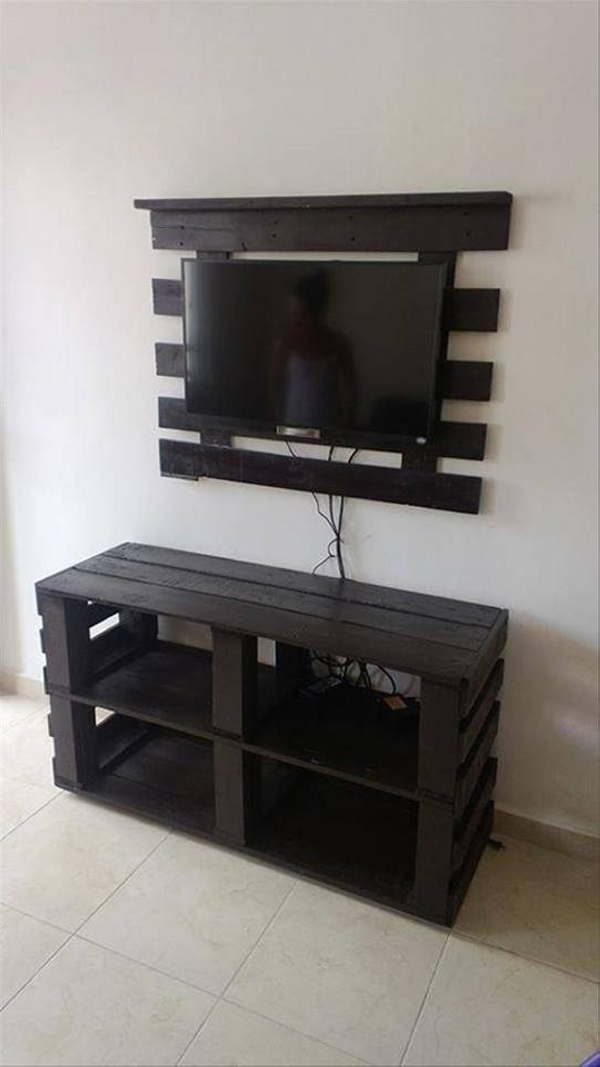 pallet side table with tv stand