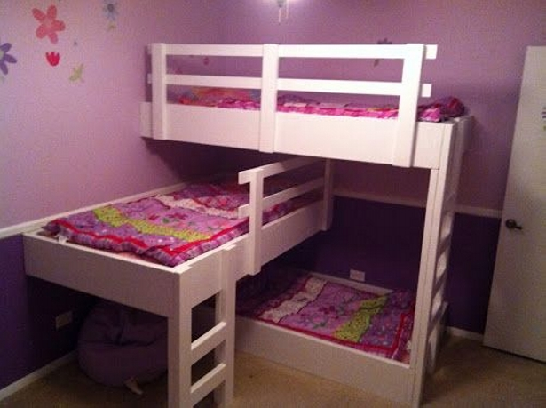 pallet tripple bunk bed