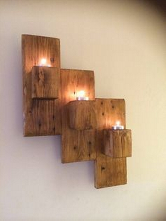 wall decor with pallets wood