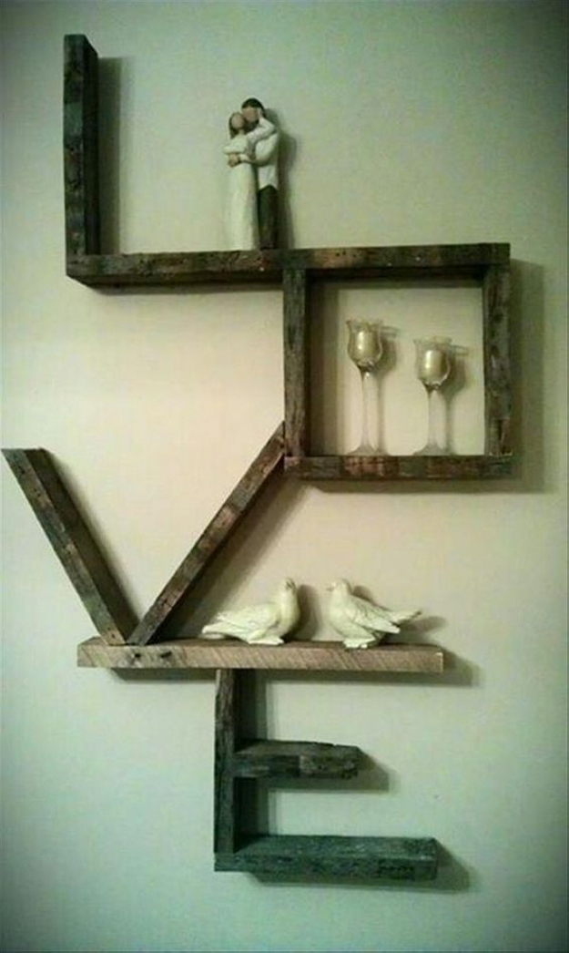 Simple Wooden Wall Shelves ~ Its easy to create pallet wood shelves ideas