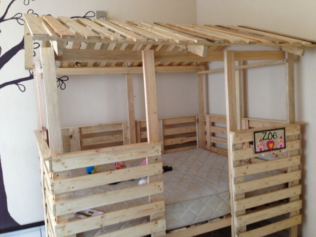 wooden pallet bunk bed ideas