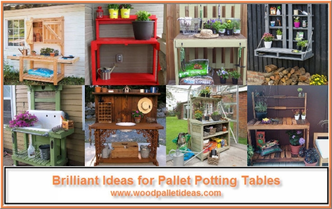 Brilliant Ideas for Pallet Potting Tables