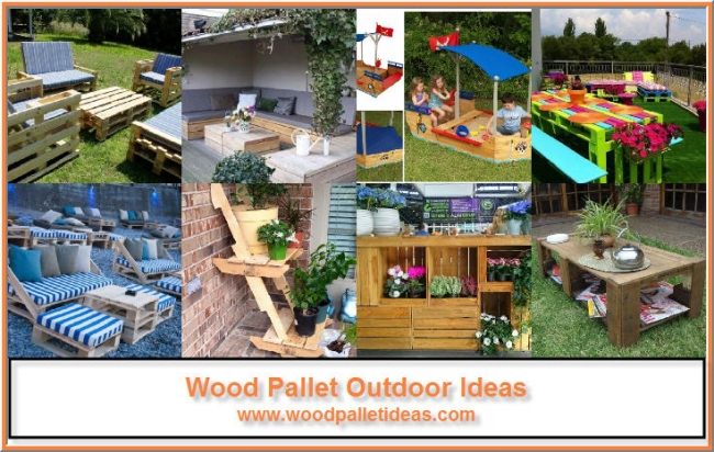Outdoor Ideas for Wooden Pallets