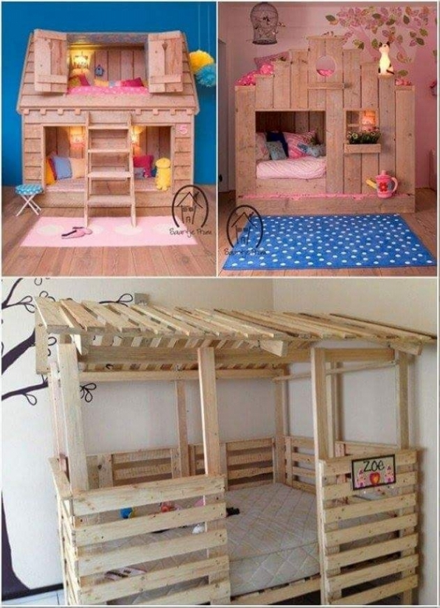 ideas for pallet loft beds