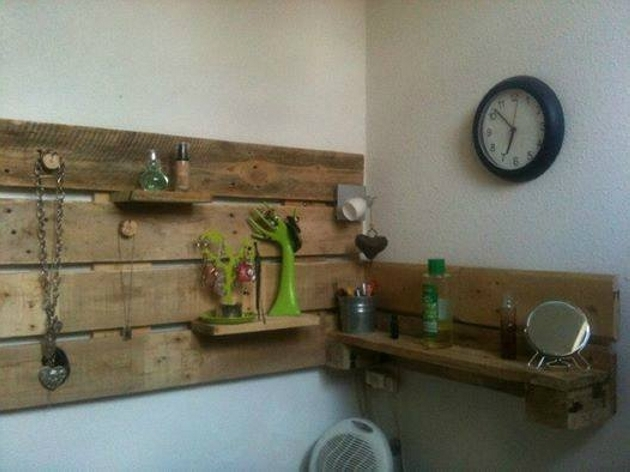 wall shelves with pallets wood